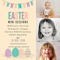 Easter Mini Sessions with a rabbit