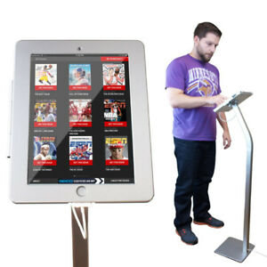 New iPad Kiosk Floor Stand Enclosure w/ Security Lock