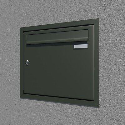 Briefkastenanlage Unterputz 1- tlg. verschiedene RAL Farben, Winkelprofil
