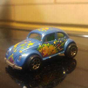 Vintage 1988 Hot Wheels Malaysia VW Beetle Bug Volkswagen Blue