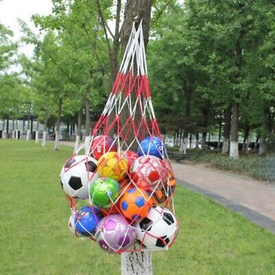 Soccer Ball Net - 7-10 Balls Carry Ball Mesh Net Bag-Holds Sport Basketball Soccer Storage Tools