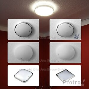 protron led deckenlampe 6w 12w 18w 24w alu deckenleuchte mit bewegungsmelder. Black Bedroom Furniture Sets. Home Design Ideas