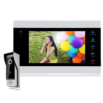 """New  7"""" HD Video Doorbell Phone Intercom Security Camera Door Access Controller"""