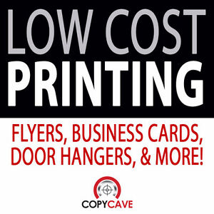 DISCOUNT PRINTING Flyers, Business Cards, Door Hangers, Etc