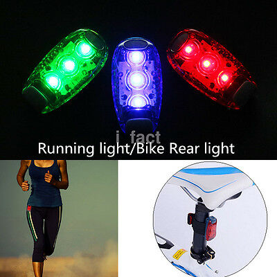(LED Light Up Safety Clip on Running Jogging Night Bike Bicycle Rear Light Mini U)