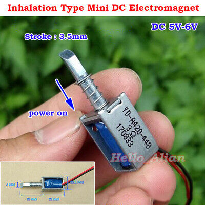Dc 5v-6v Inhalation Type Mini Dc Solenoid Electromagnet Micro Electric Magnet