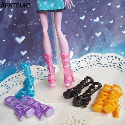 5pairs/lot Fashion Shoes For Monster High Dolls High Heel Boots Shoes Kids - Monster High Shoes For Kids