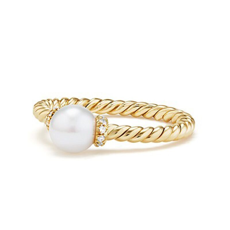 Gorgeous Wedding Ring for Women 18k Yellow Gold Plated White