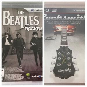 Jeux ps3 Rocksmith authentique parfait état - Rockband -15$ch