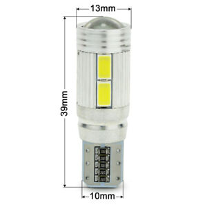 T10 / 194 LED 10SMD BULBS CANBUS ERROR FREE WHITE 6000K