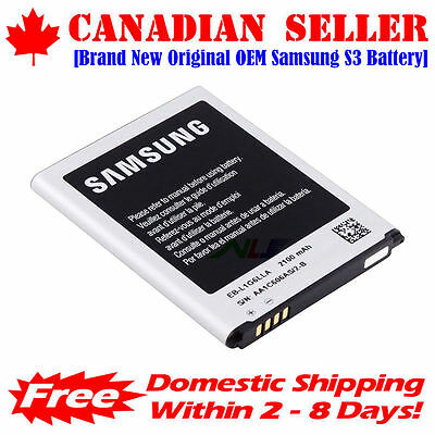 Original OEM Samsung Galaxy S3 Battery with NFC i9300 i535 EB-L1G6LLU 2100mAh, used for sale  Canada
