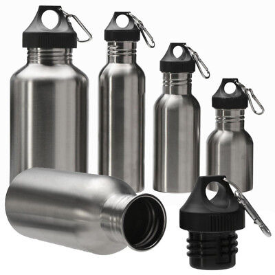 Stainless Steel Wide Mouth Drinking Water Bottles Outdoor Travel Sports Cycle