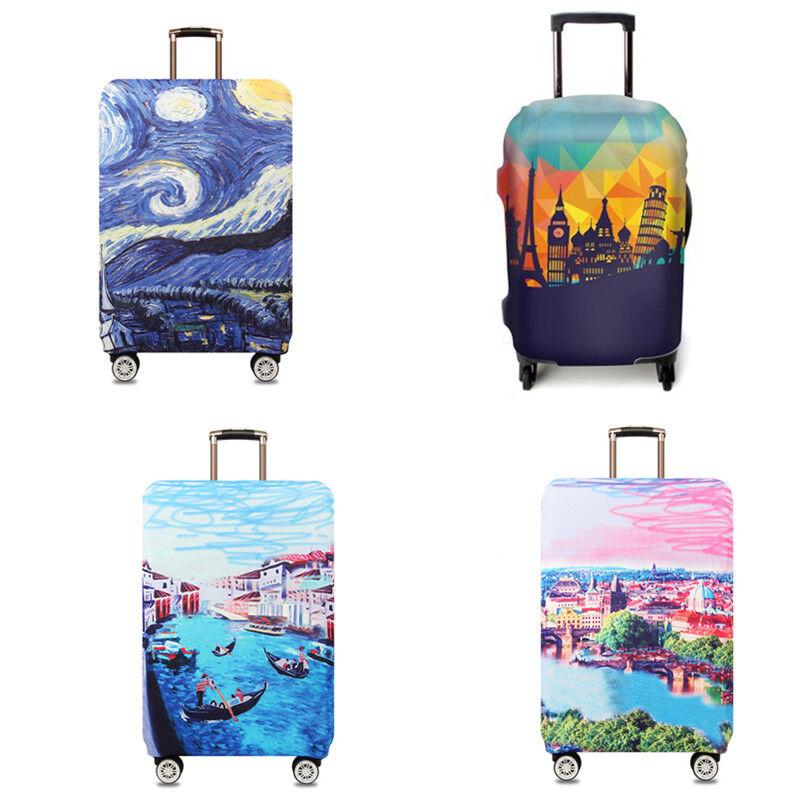 Travel Luggage Suitcase Elastic Cover Case Dustproof Antiscr
