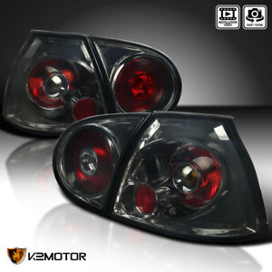 2006-2009 Fit VW Golf GTI MK5 R32 Rabbit Rear Tail Lights Brake Lamps Smoke L+R
