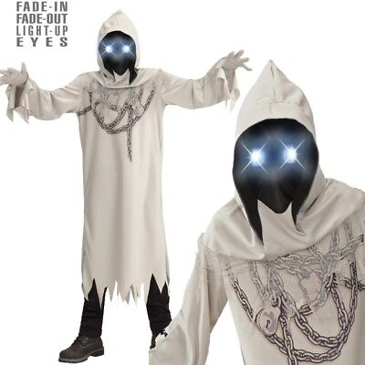 GEIST in Ketten mit leuchtenden Augen Gr. 128 Kinder Kostüm Tod Halloween #886
