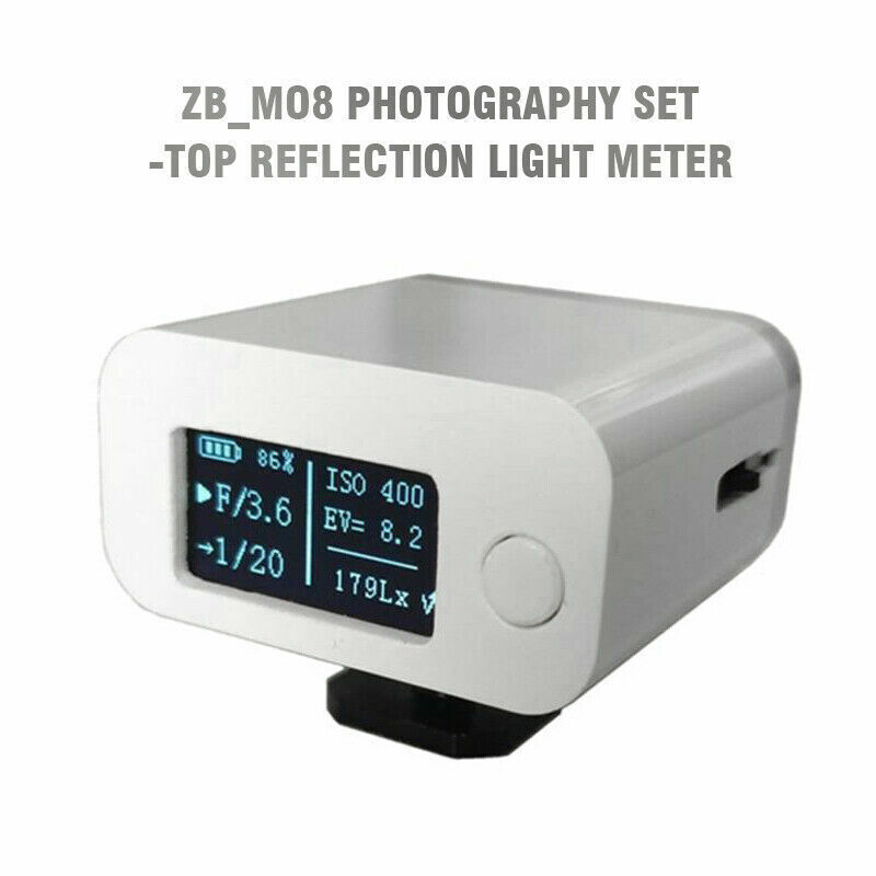 ZB_M08 Photography Set-top Reflection Light Meter Hot Cold Shoe Fixed