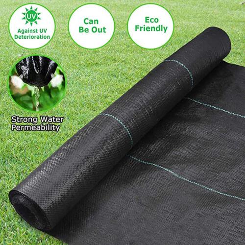 4*50FT Garden Weed Barrier Landscape Fabric Heavy-Duty Weed Block Gardening Mat