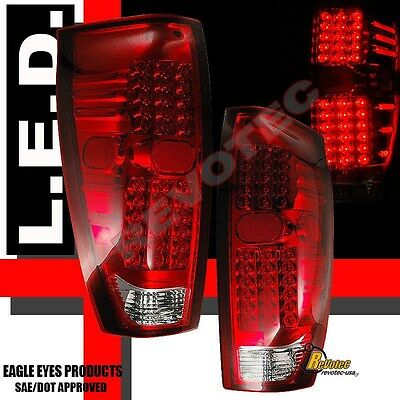 02-06 Chevy Avalanche 1500 2500 Pickup Red LED Tail Lights 1 Pair