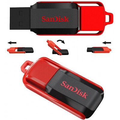 NEW SanDisk 32GB Cruzer SWITCH USB Flash Pen Drive SDCZ52-032G 32 G RETAIL PACKK