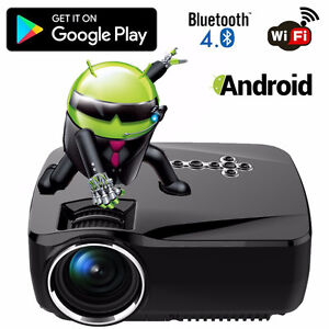 1500 lumen Projecteur Android Bluetooth Full HD 1080P LED / NEUF