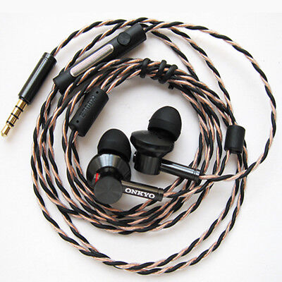 New ONKYO E700M Hi-Res In-Ear Headphones Canal Type Hi-Res With Mic NO BOX