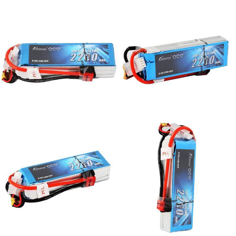 Gens Ace Lipo Battery Pack 2200Mah 25C 3S 11.1V With Deans P