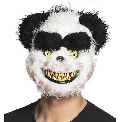 gruselige CREEPY PANDA Maske blutrünstige Tiermaske Halloween Kostüm - Gruselige Kostüm