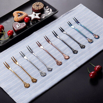 Appetizer Dessert Fork Stainless Steel Mini Salad Fruit Tasting Cocktail - Appetizer Forks