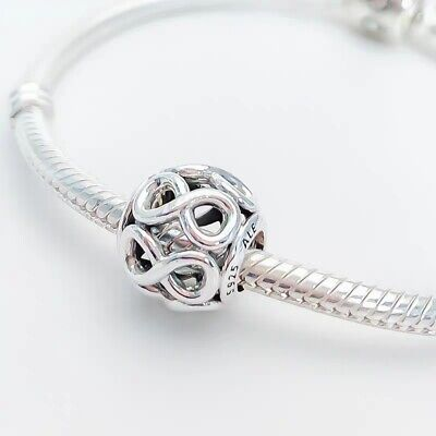New  Authentic Pandora Sterling Silver Charm Infinite Shine Bead 791872