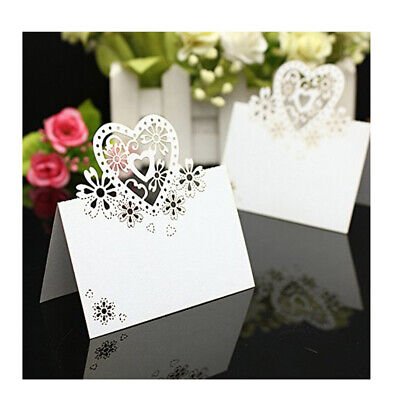 Party Table Name Cards (20-100pcs Table Name Place Cards Love Hearts Wedding Party Pearlescent Laser)