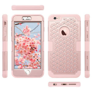 iPhone 6s PLUS rose gold bling phone case