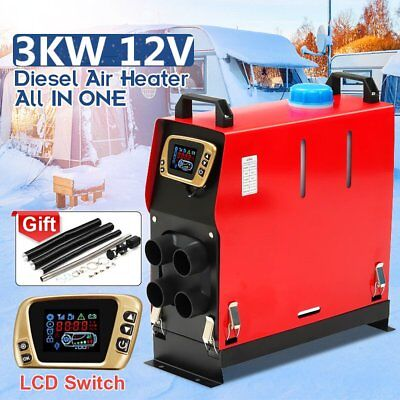 3KW 12V ALL IN ONE Air Diesel Heater Heating For Car Truck Motor-home Boat Bus Q