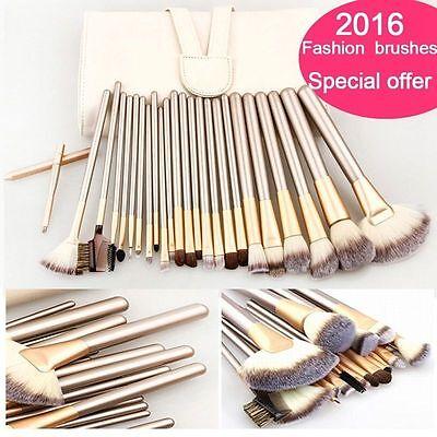 12/18 Pcs Pro Makeup Brushes Blush Eyeshadow Soft Cosmetic Brush Set   Pouch Bag