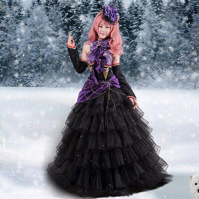 Vocaloid Luka sing dragon Cosplay Kostüm Abend-Kleid Gothic lang wig Perücke 2