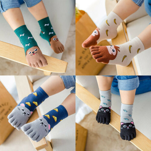 Toddler Hosiery Toe Socks Cute Five Fingers Sock Animal Kids