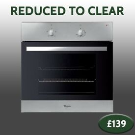 REDUCED TO CLEAR - New Whirlpool Stainless Steel Electric Oven - Delivery Available - £139