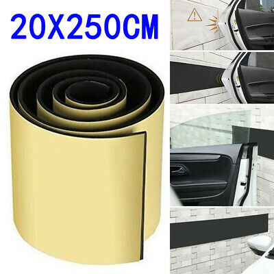Car Door Protection Garage Rubber Wall Safety Guard Bumper Sticker 6mm Thick