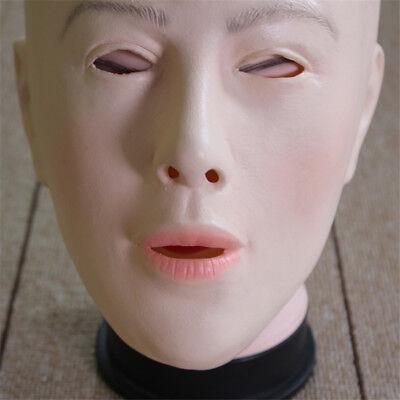 Female Face Latex Maske Kostüm Halloween Crossdresser Kostüm Living Dolls NEW