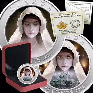 GHOST BRIDE Hologram Coloured Halloween Coin HAUNTED SERIES 2014