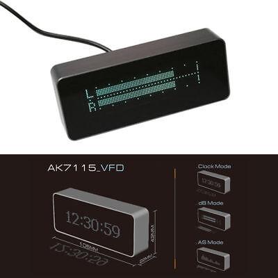 Ak7115 Vfd High Precision Clock Audio Vu Meter Music Spectrum Db Indicator