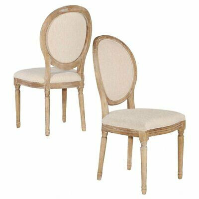 Riverbay Furniture Oval Back Dining Side Chair in Linen (Set of (Oval Back Chairs)