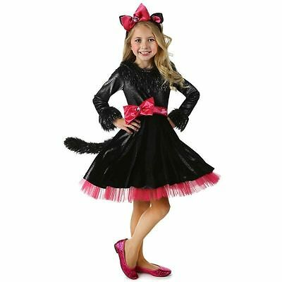 $64.99 NWT GIRLS CHILD DELUXE PINK/BLACK BARBIE CAT KITTY DRESS COSTUME XS 4 (3) (Barbie Kitty Costume)