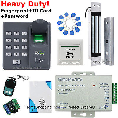 Fingerprint+RFID Card+Password Door Access Control System+Embedded Magnetic Lock