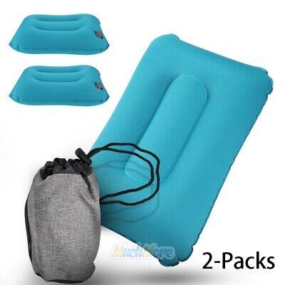 2Pack Inflatable Travel Pillow Foldable Lumbar Car Office Back Waist Cushion US