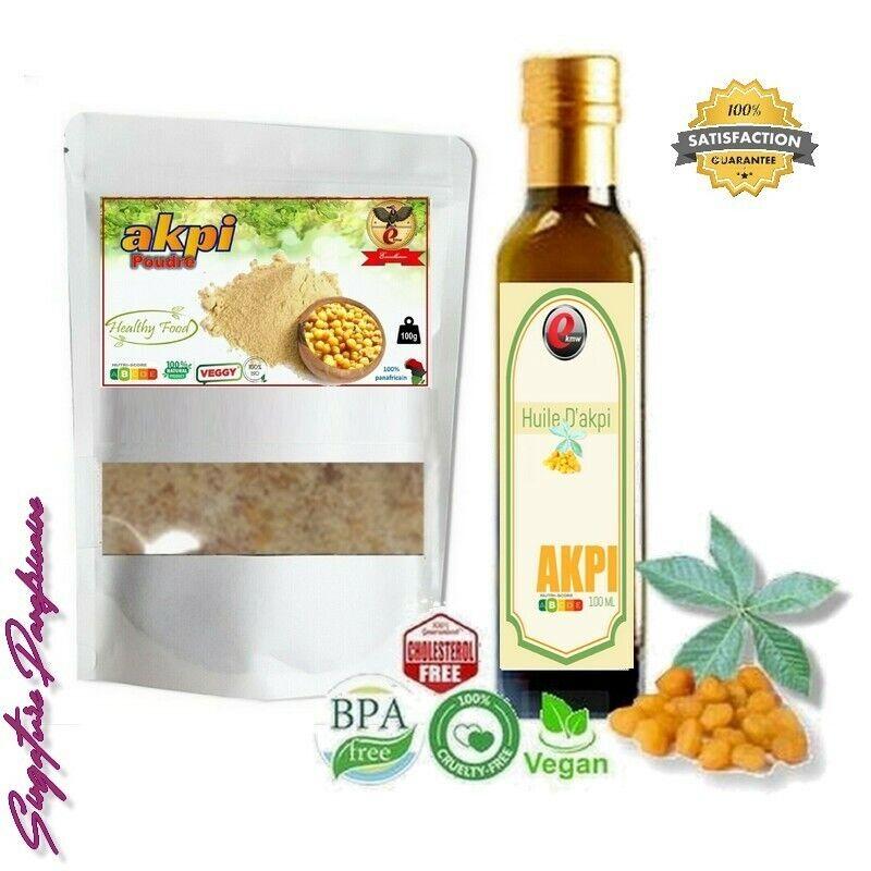 Kit Douceur - sélection panafricaine 100g poudre + 100 ml d'Huile d'Akpi
