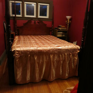 Peach Satin Custom Made BedSpread Kitchener / Waterloo Kitchener Area image 1