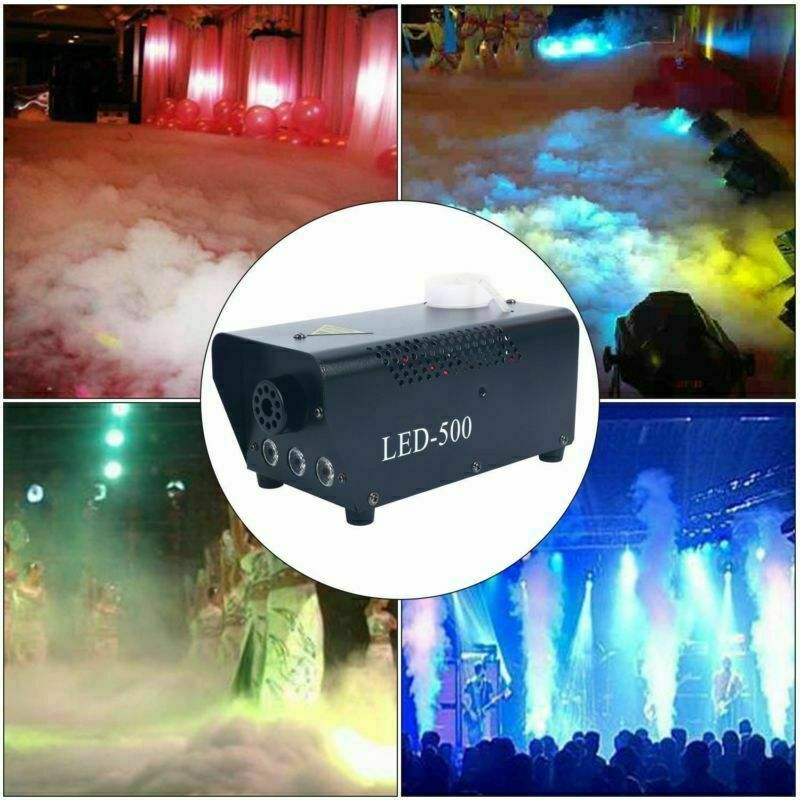 500W Smoke Fog Machine Stage Fog Effect Equipment with Remote Control for Party