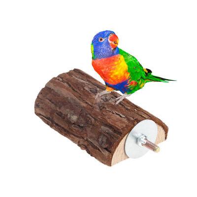 Pet Parrot Wooden Bird Cage Perches Stand Platform Parakeet Budgie Rat Play Toy