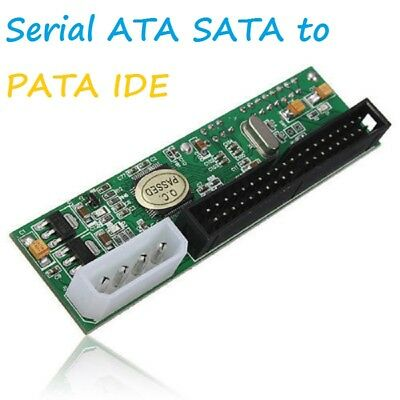 "New 2.5""/3.5"" Drive 40 Pin Serial ATA SATA to PATA IDE Card Adapter Converter UK"