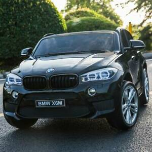 licensed bmw  x6m two seater kids ride on car with 2.4ghz rc black x6